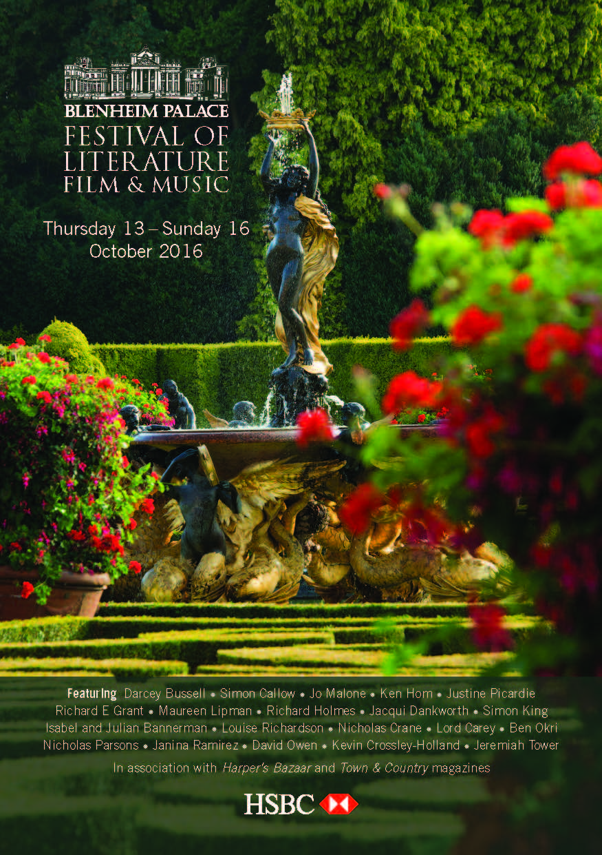 Blenheim Palace festival of Literature, Film and Music 2016 brochure