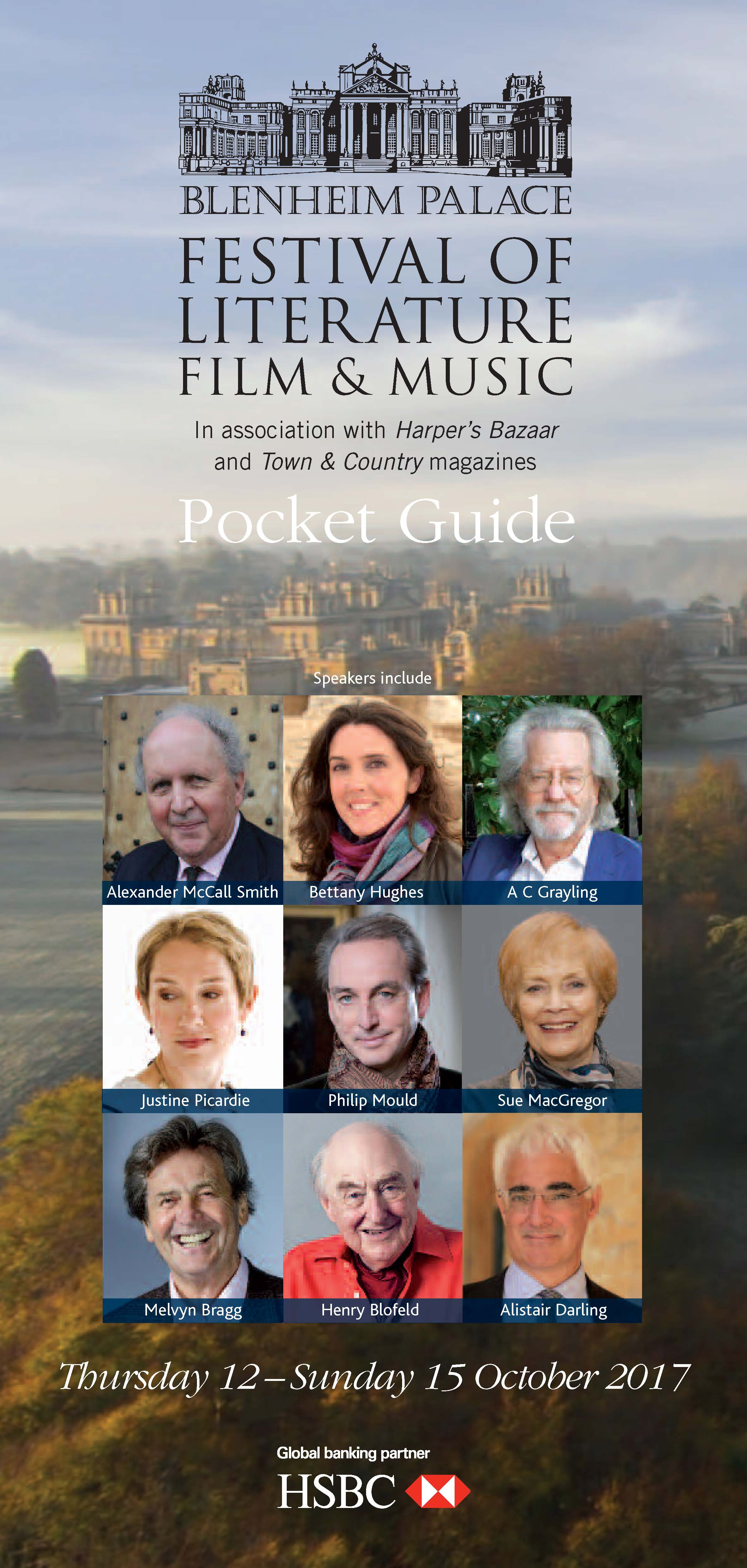 Blenheim Palace festival of Literature, Film and Music 2017 pocket guide