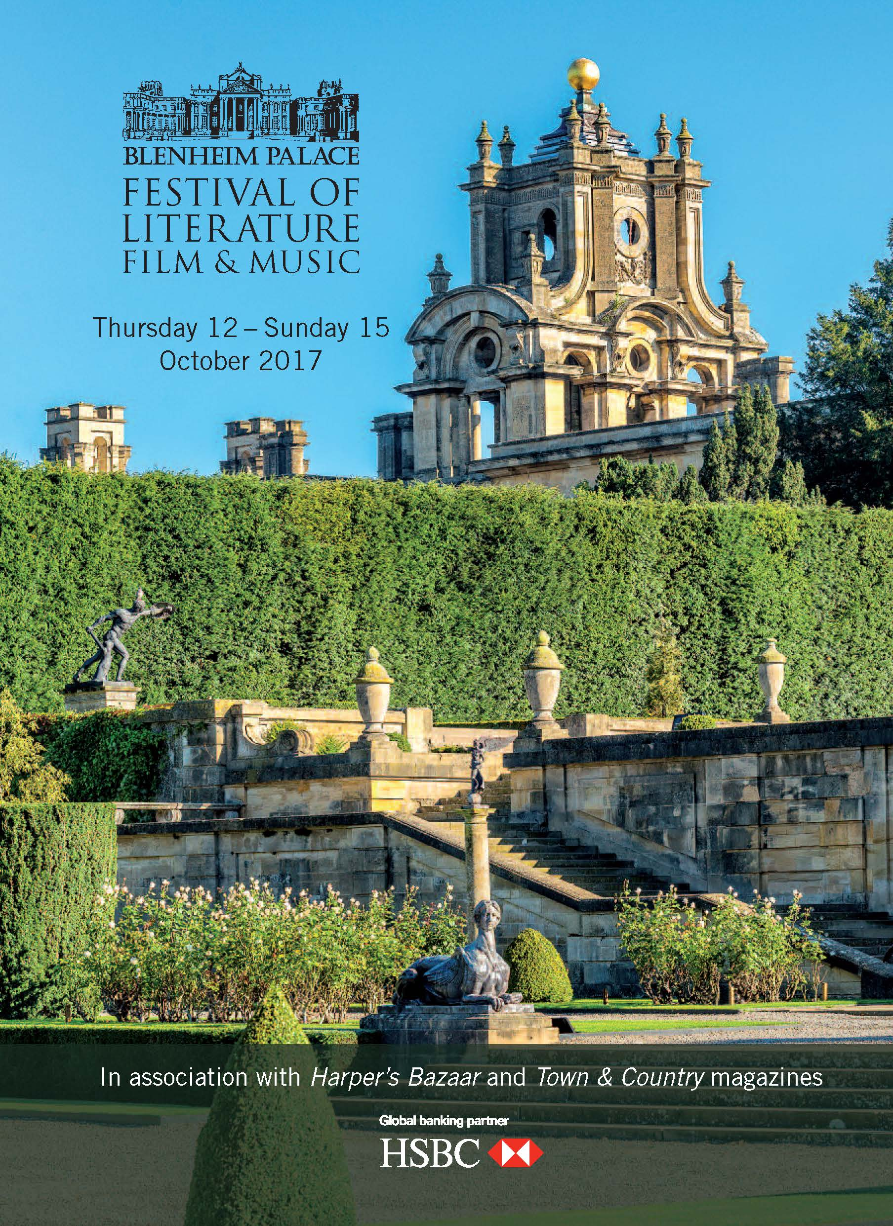 Blenheim Palace Festival of Literature, Film and Music 2017 brochure