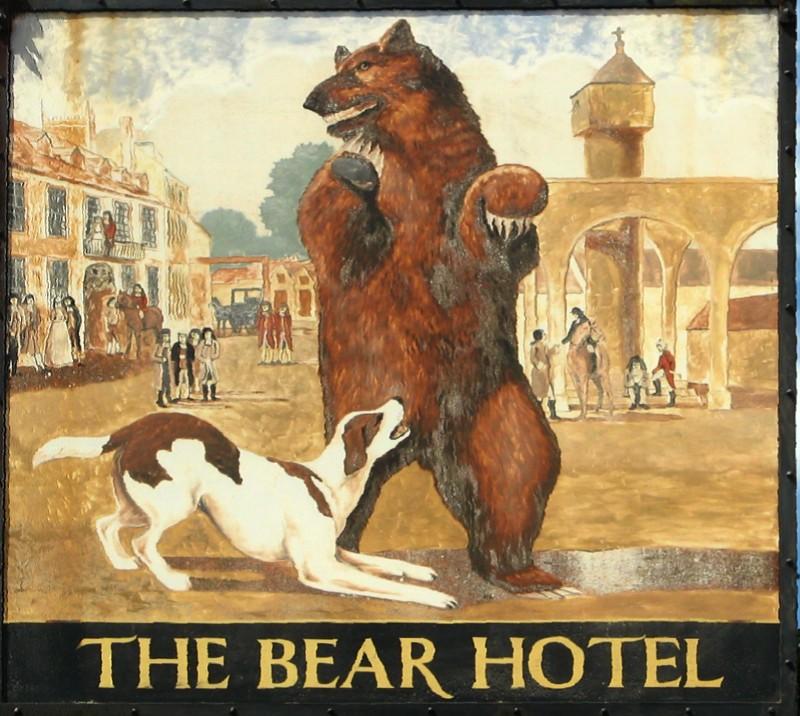 Bear Hotel sign